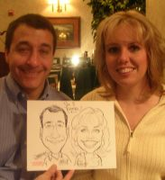 wedding caricature sample
